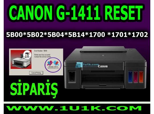 Canon G1411 Reset 5B00 Reset Programı - Canon Emici Dolu Giderme