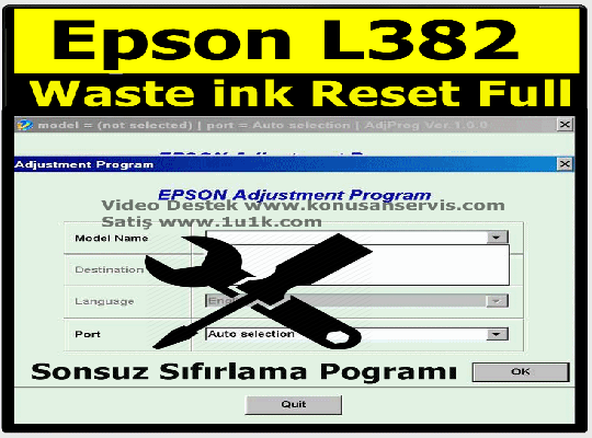 Reset Epson L382 | Epson Waste ink Ped Resetter