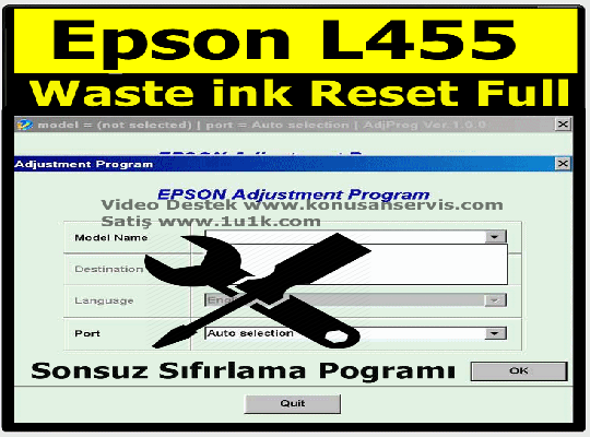 Reset Epson L455 | Epson Waste ink Ped Resetter