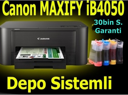 Canon MAXIFY iB4050 Depolu Dublex Lan Wifi Yazıcı